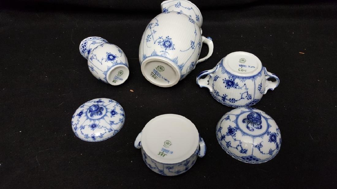 4 Piece Royal Copenhagen Blue & White Porcelain - 3