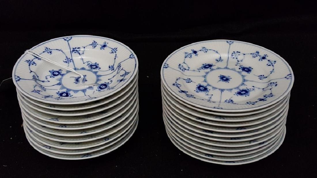 Royal Copenhagen Fluted Blue & White Bowls & Dish