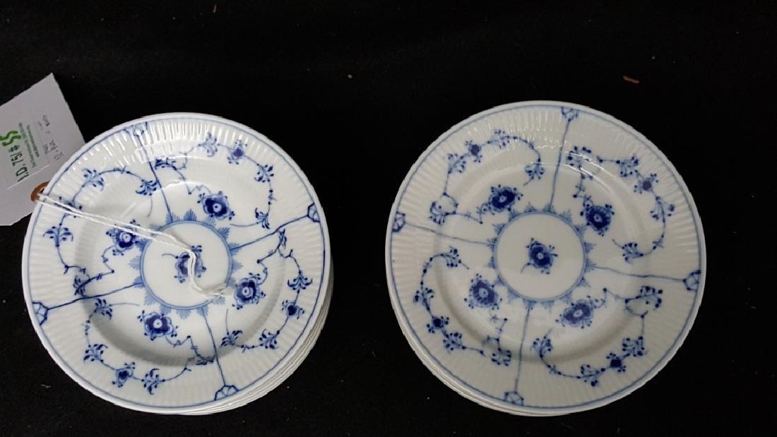 Royal Copenhagen Fluted Blue & White Bowls & Dish - 2