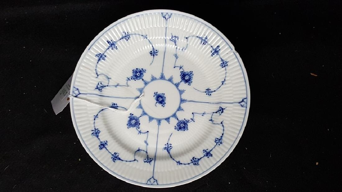 "Royal Copenhagen Fluted Blue & White 8.5"" Plates"