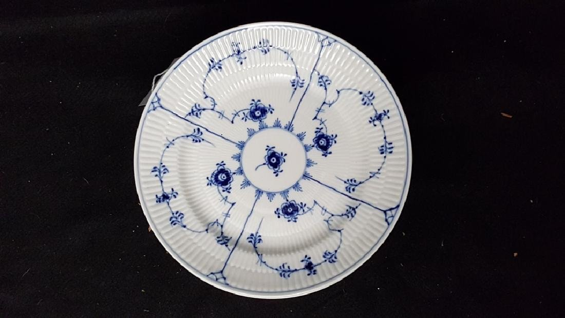 "Royal Copenhagen Fluted Blue & White 8.5"" Plates - 2"