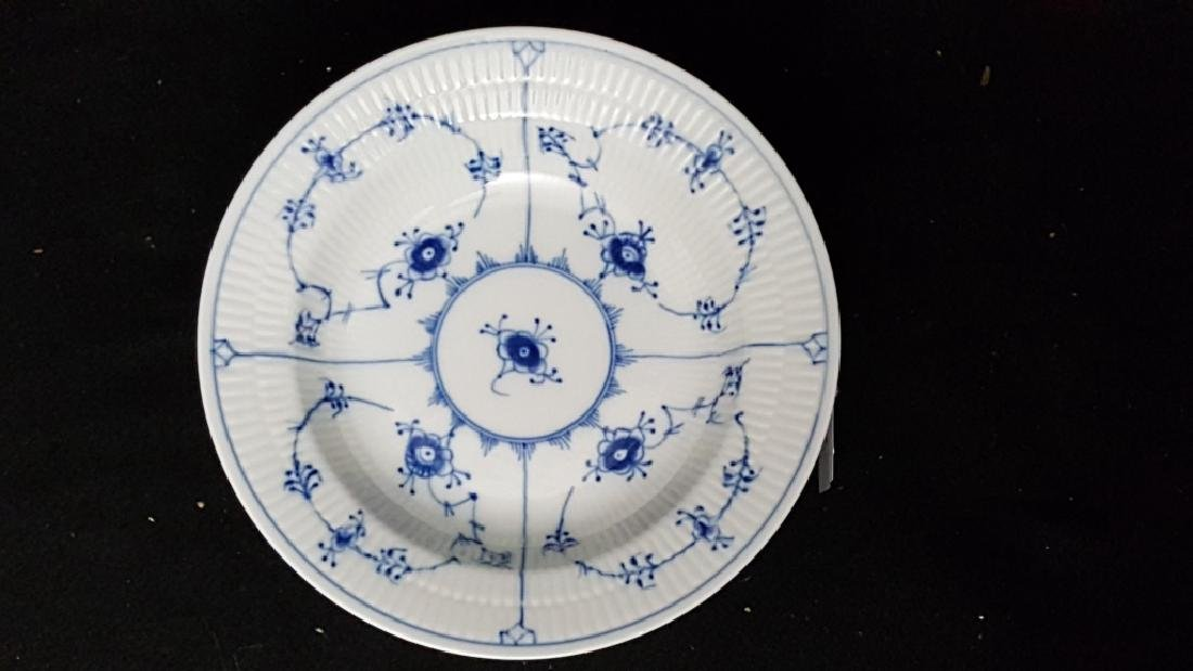 (11) Royal Copenhagen Fluted Blue & White Bowls