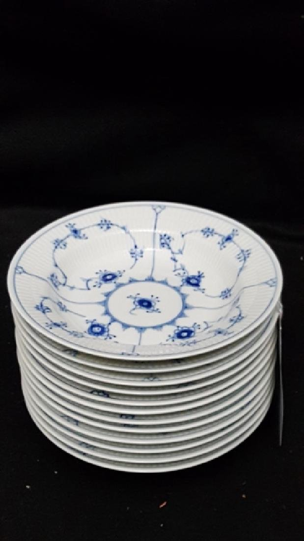 (11) Royal Copenhagen Fluted Blue & White Bowls - 2
