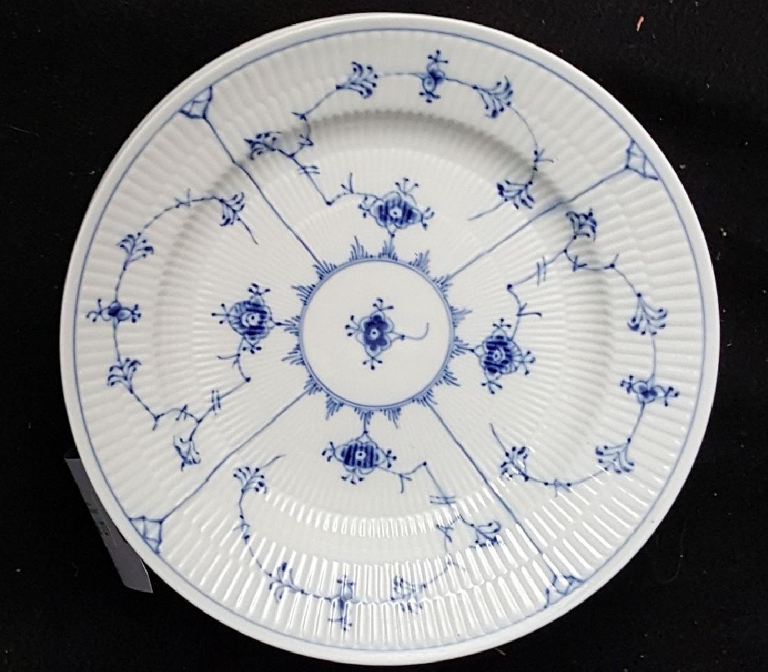 Royal Copenhagen Fluted Blue & White Dinner Plates