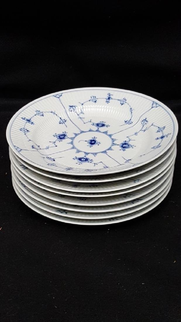 Royal Copenhagen Fluted Blue & White Dinner Plates - 2