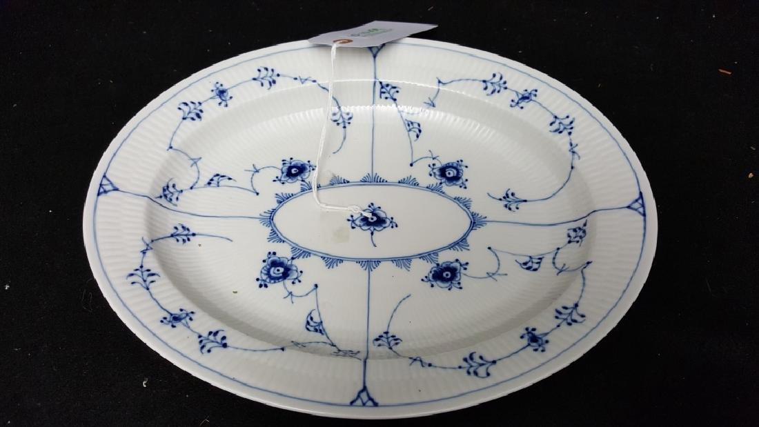 Royal Copenhagen Fluted Blue & White Oval Server