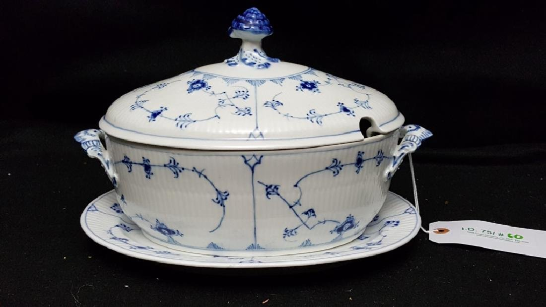 Royal Copenhagen Fluted Blue & White Tureen