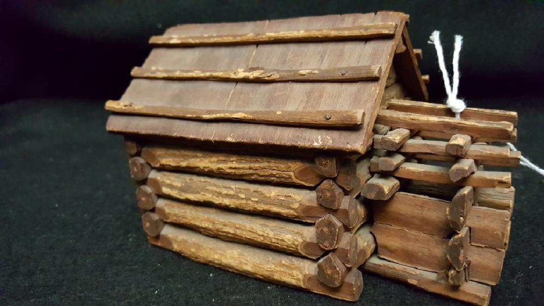 American Folk Art Log Cabin