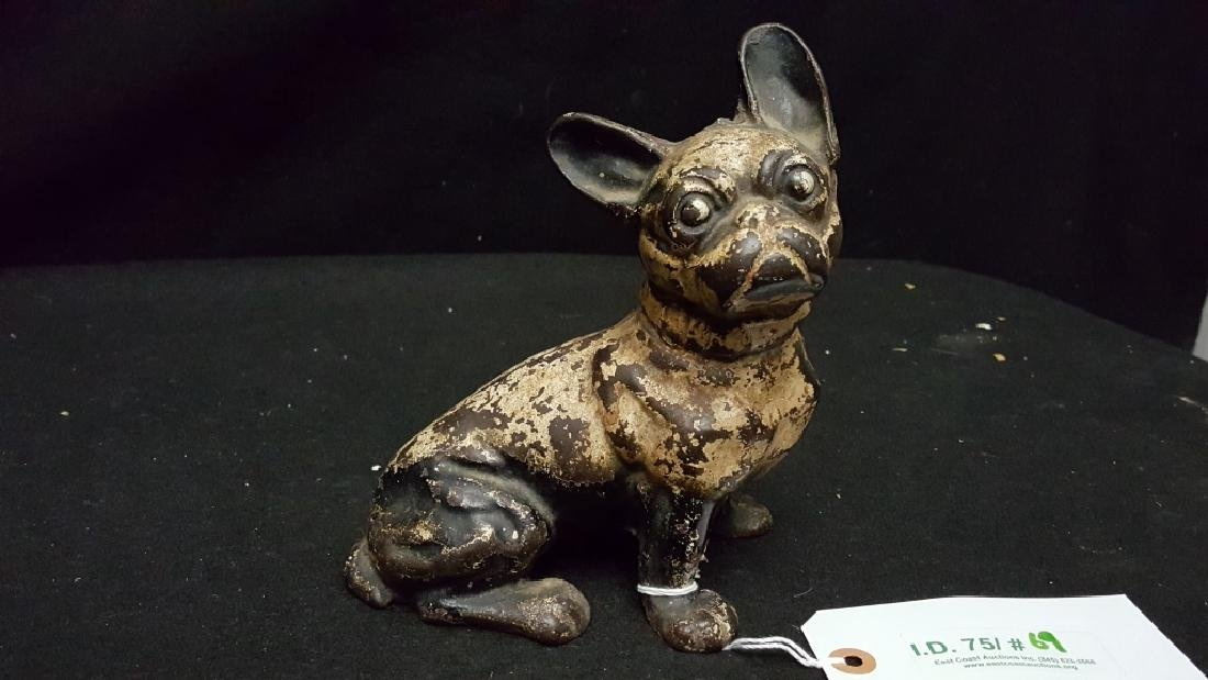 Antique Cast Iron Bull Dog Door Stop