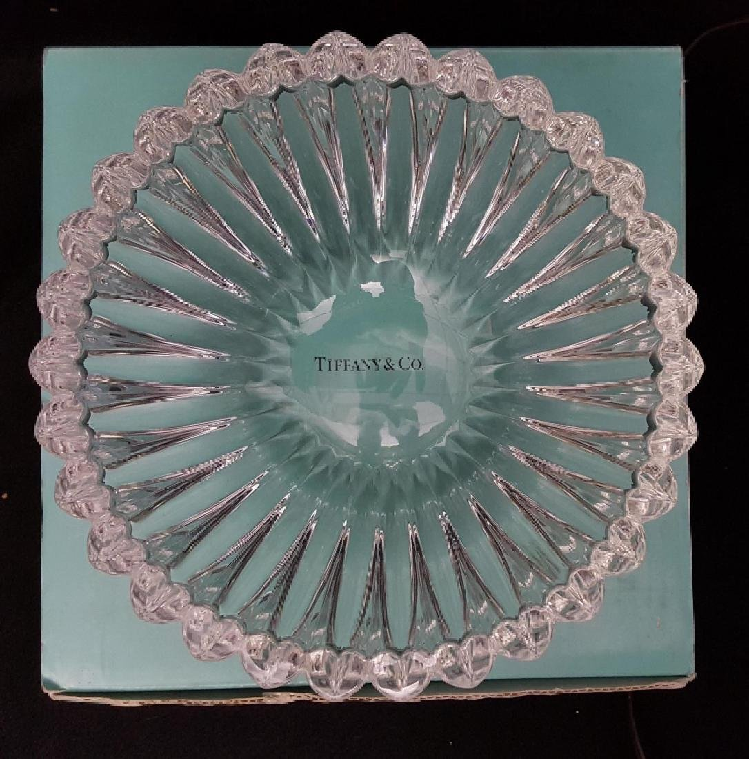 A Tiffany & Co Crystal Bowl With Heart Design