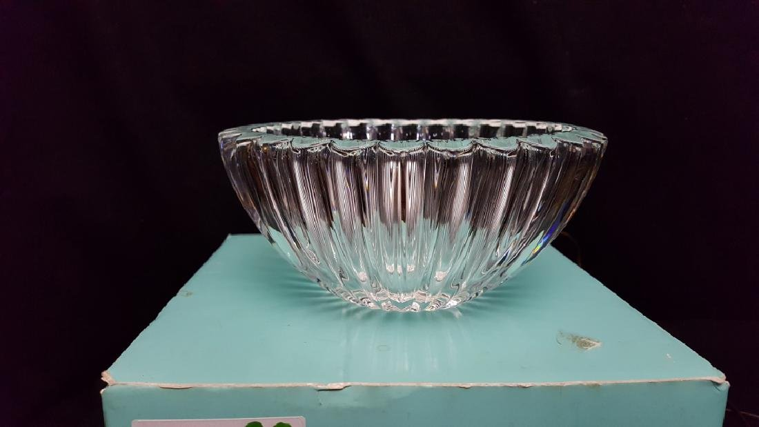A Tiffany & Co Crystal Bowl With Heart Design - 2