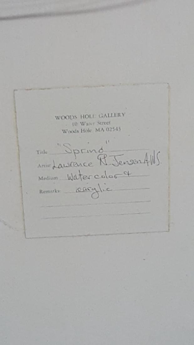 Artist Signed A.W.S. Painting of a Waterside Home - 4