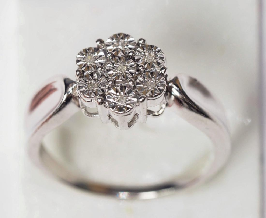Sterling Silver Diamond Ring - 2