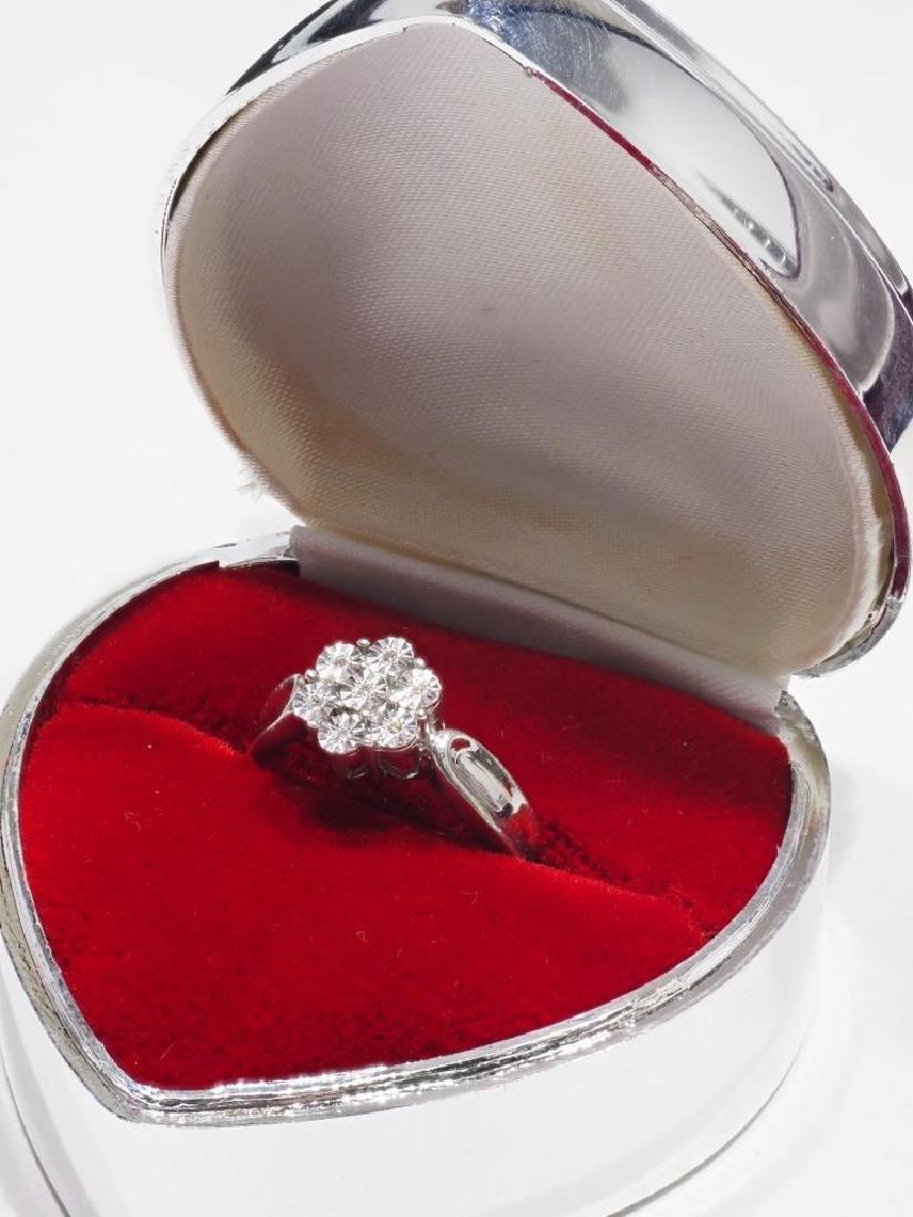 Sterling Silver Diamond Ring - 3