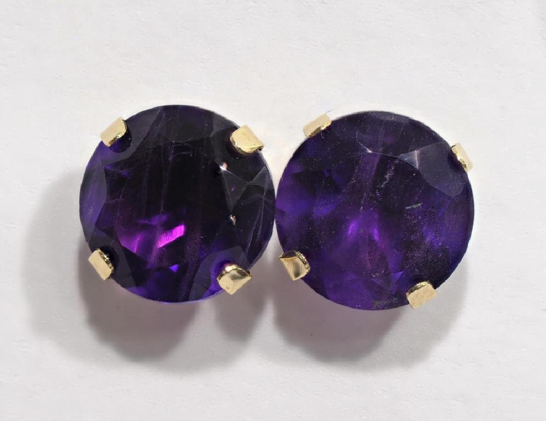 10kt Gold Genuine Amethyst Earrings