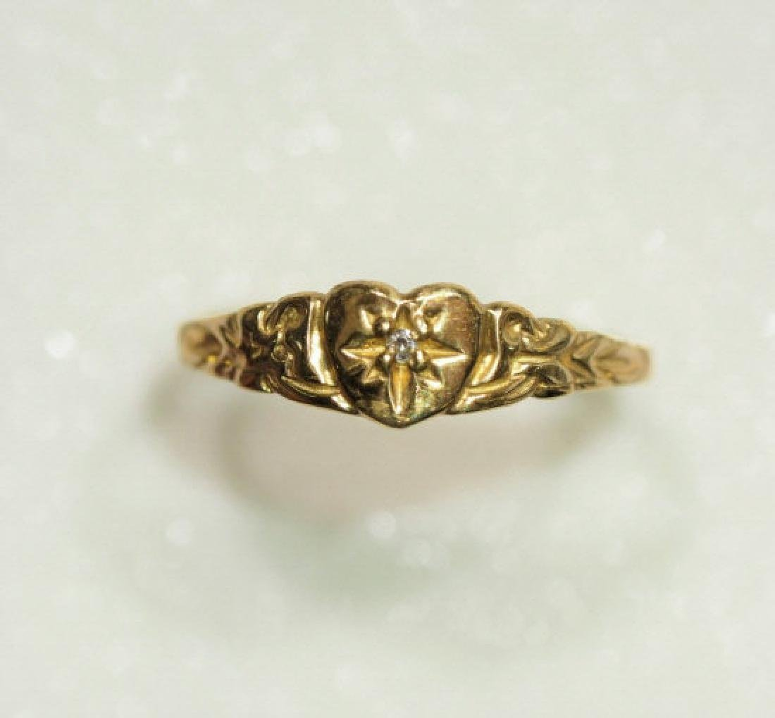 10kt Gold Baby Ring with Diamond