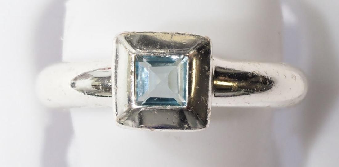 Sterling Silver Genuine Blue Topaz Ring