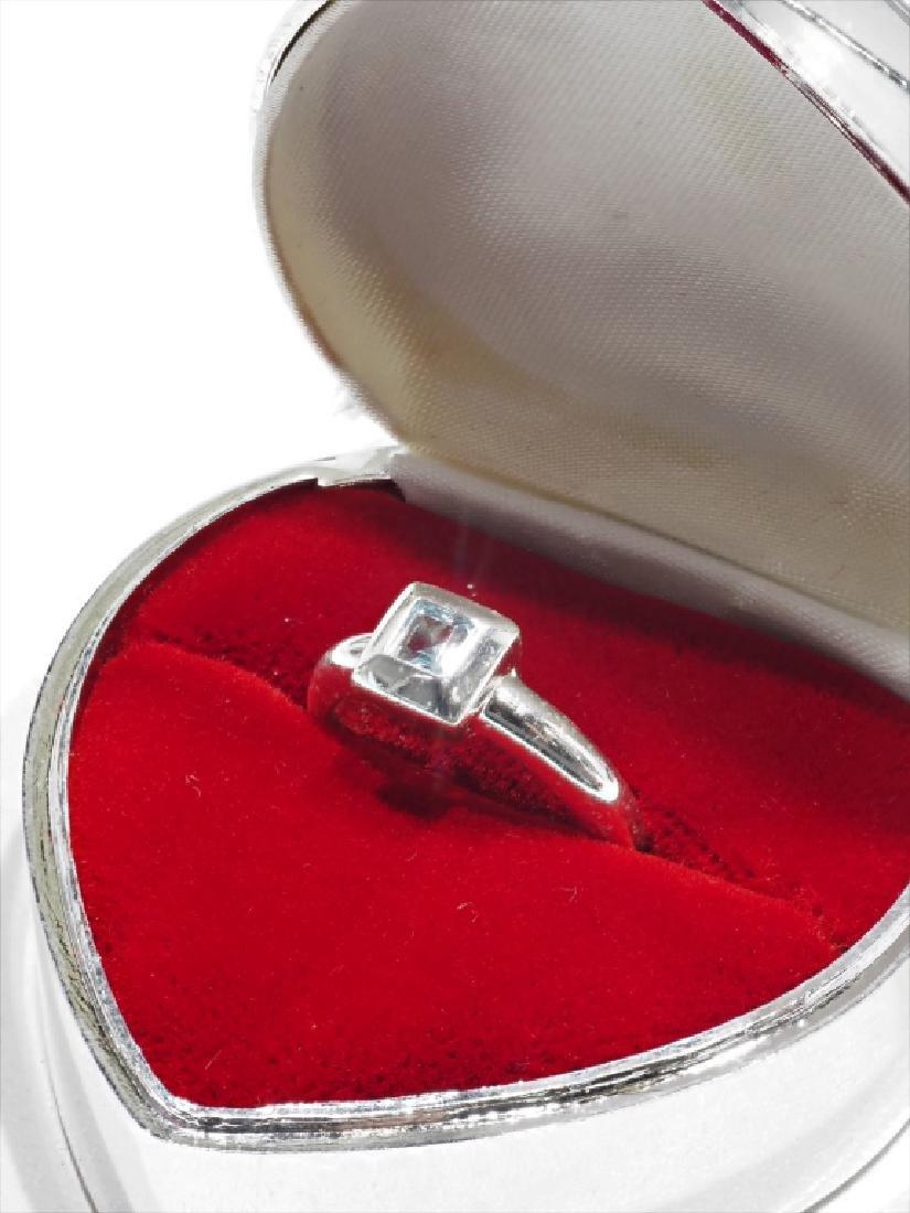 Sterling Silver Genuine Blue Topaz Ring - 2