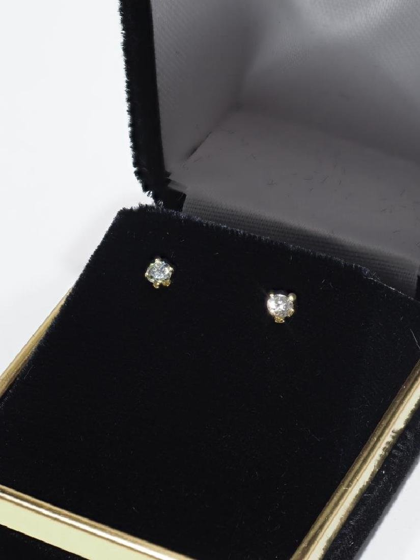 14kt Gold Diamond Earrings - 2