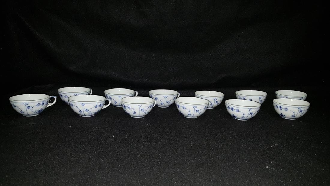 12 Royal Copenhagen Blue & White Coffee Cups