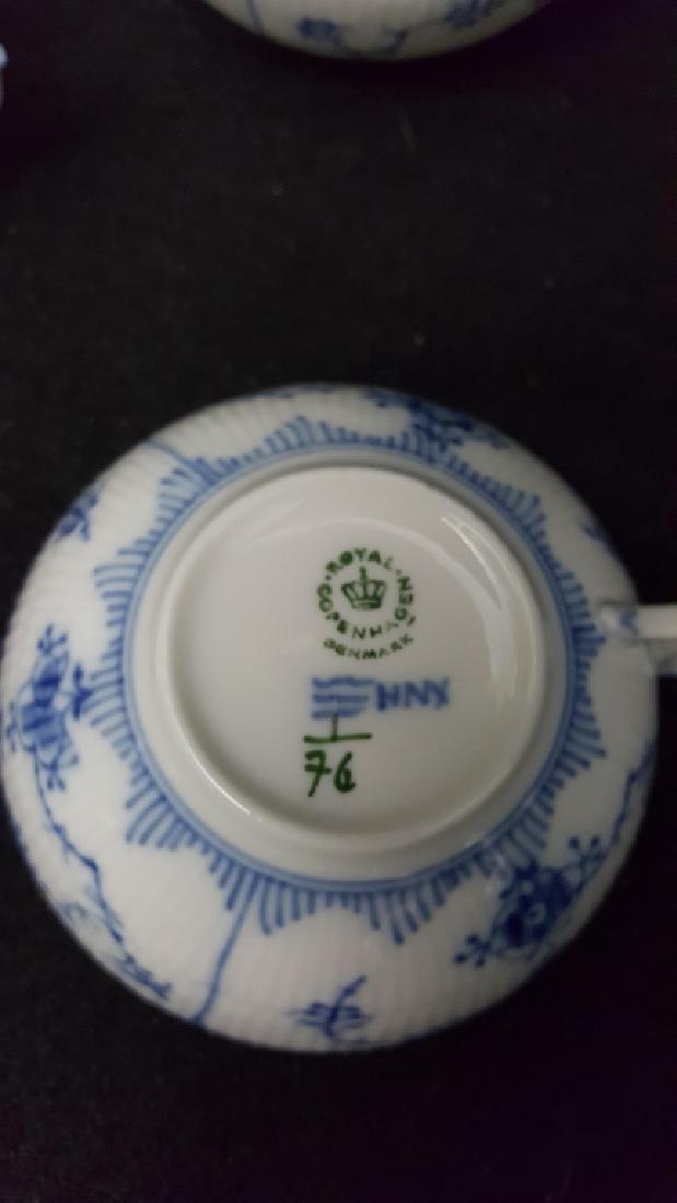12 Royal Copenhagen Blue & White Coffee Cups - 3
