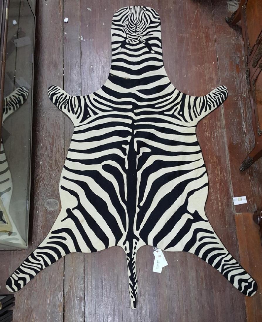 An Armand Diradourian 100% Wool Zebra Rug