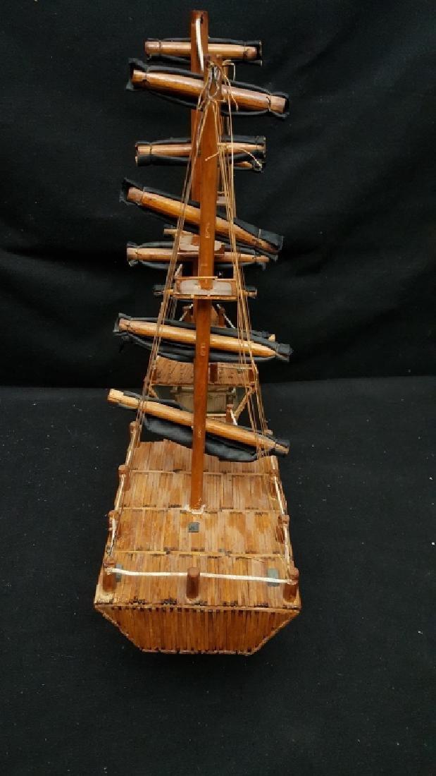 Large American Folk Art Match Stick Ship - 4