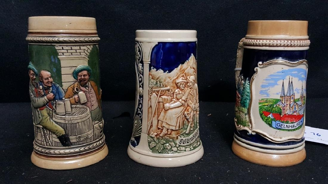 (3) 1/2L German Beer Steins