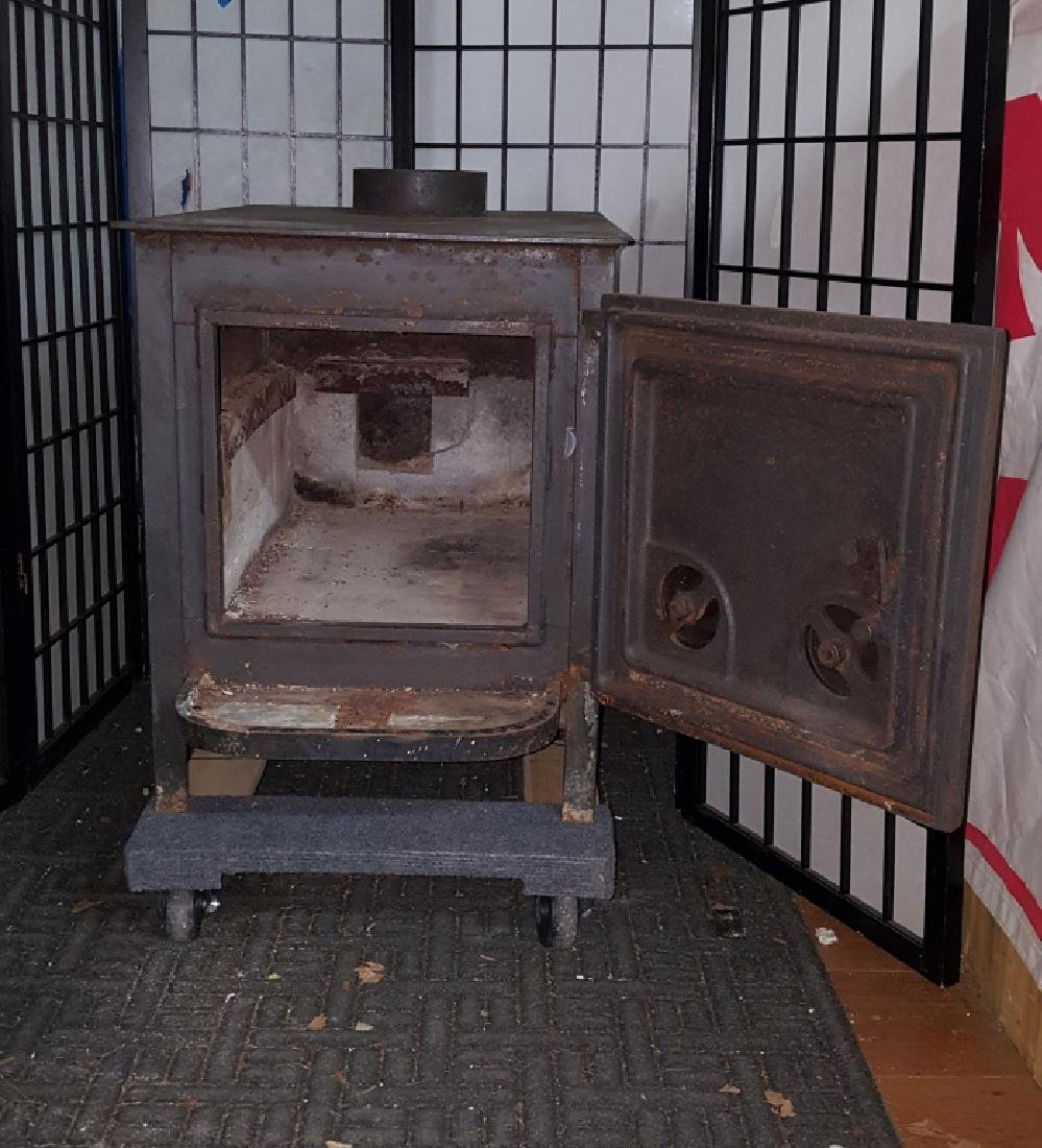 "Old Mill Cast Iron Wood Burning 24"" Log Stove - 2"