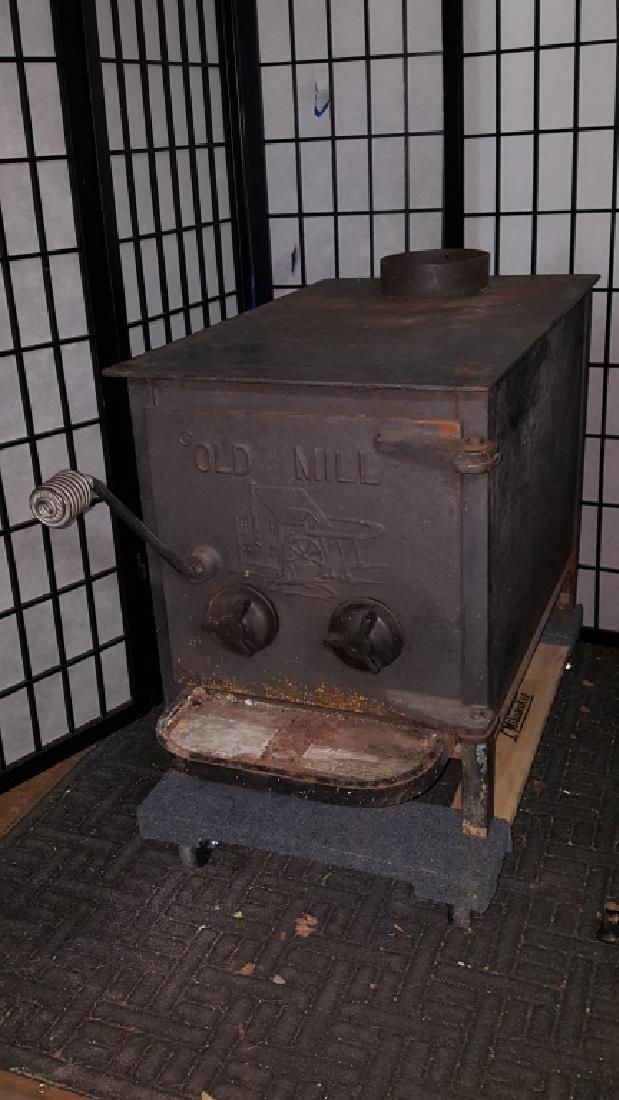 "Old Mill Cast Iron Wood Burning 24"" Log Stove - 5"