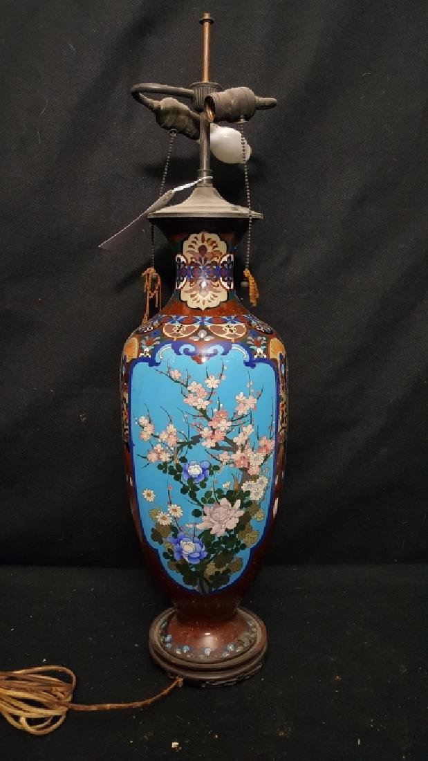 An Exceptional & Large Cloisonne Vase As Is