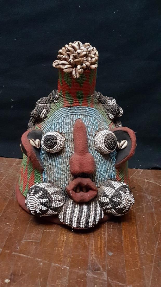Nigerian Beaded Helmet / Mask