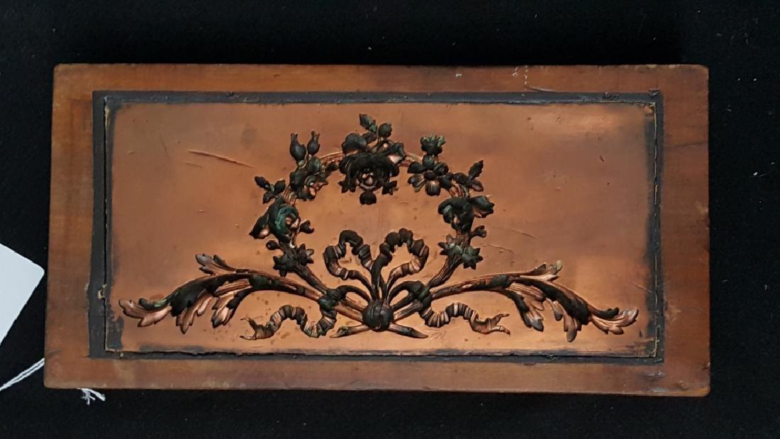 Antique Copper Architectural Gesso Mold
