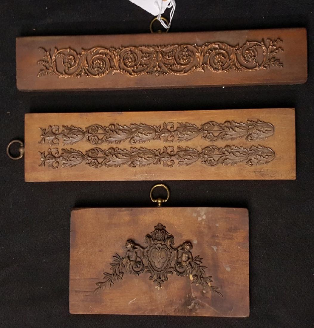 Antique Gesso Salesman Samples Mounted on Wood