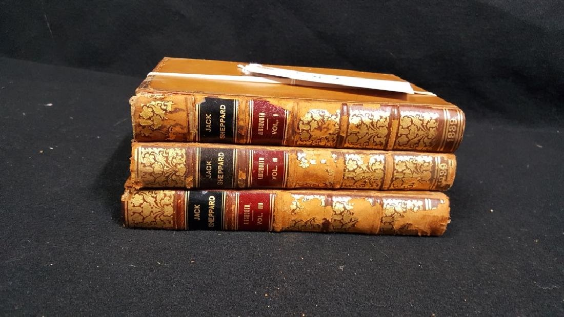 "Antique Book ""Jack Sheppard"" 3 volumes"