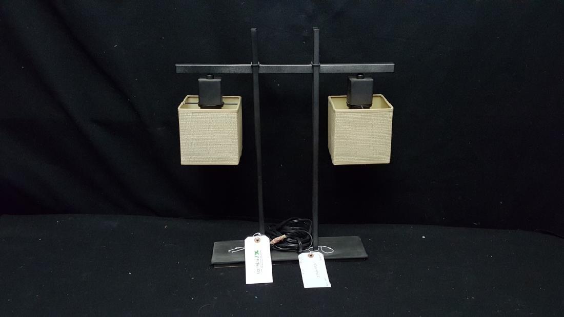 A Modern Kovacs 2 Light Table Lamp
