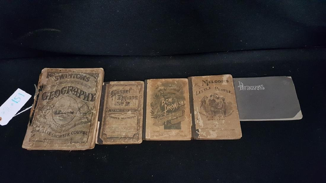 Antique Religious Hymn Books & art book