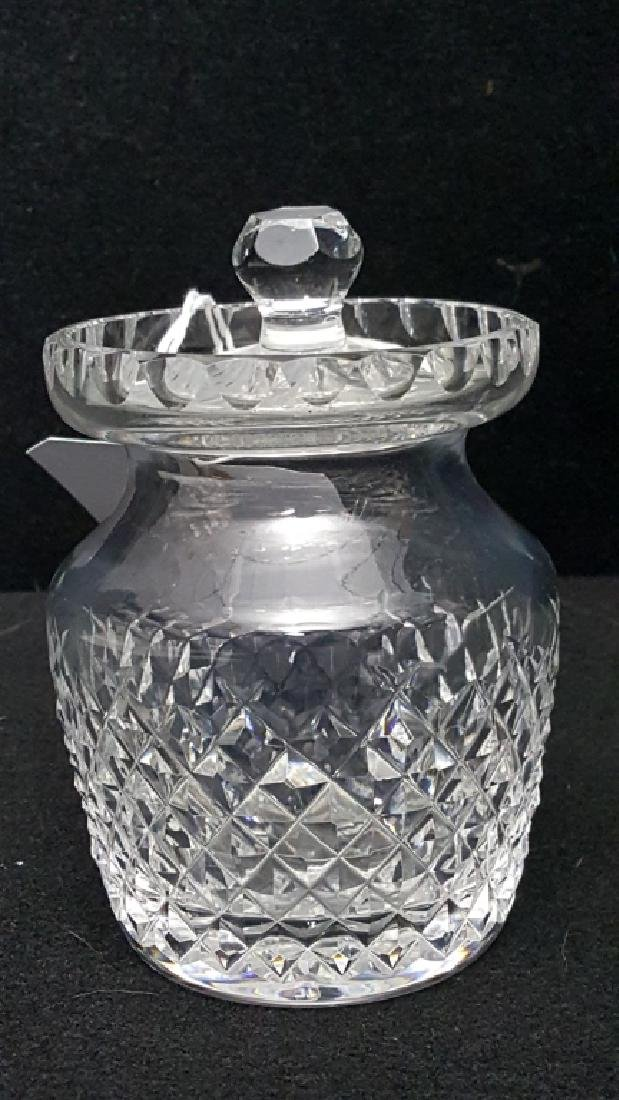 "Waterford Crystal Condiment Jar 5"" Tall"