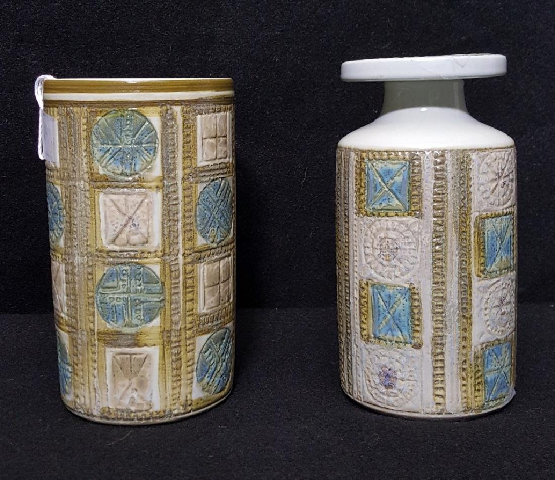 Two (2) Royal Copenhagen Fajance Pottery Vessels