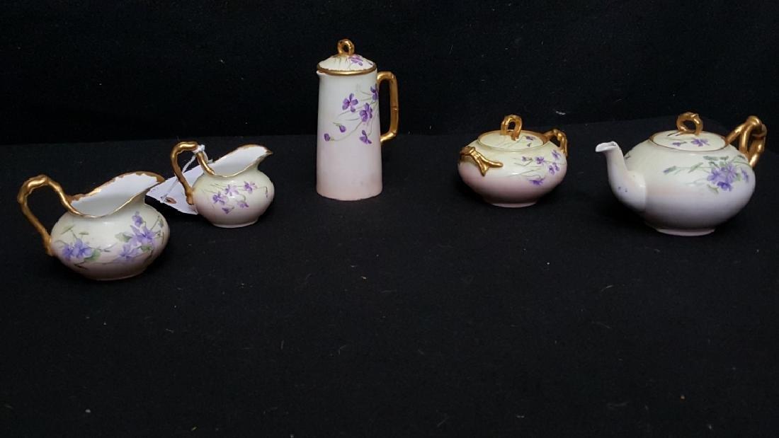 Limoges J. P. & L 5 Piece Porcelain Set Dalrymple