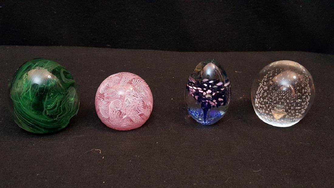 Group of Art Glass Paperweights