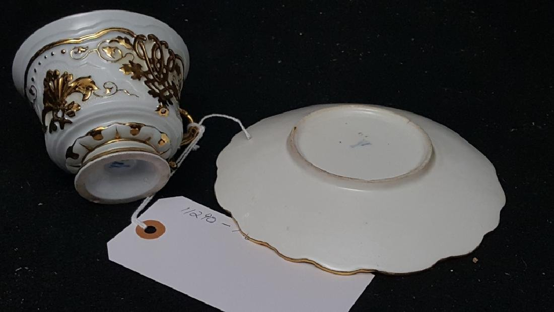 A Meissen Gold Encrusted Cup & Saucer - 2