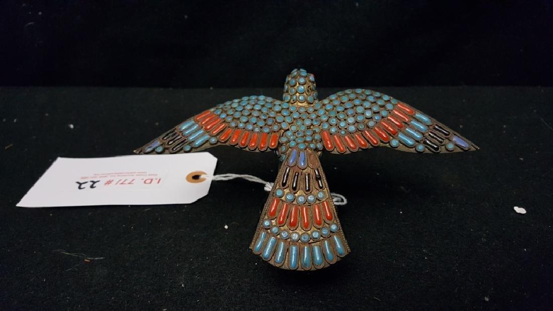 Enamel on Brass Eagle Scuplture