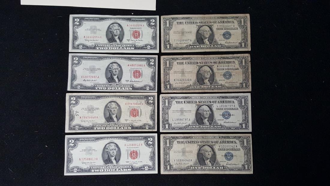 Lot of United States of America Notes + Silver Cer