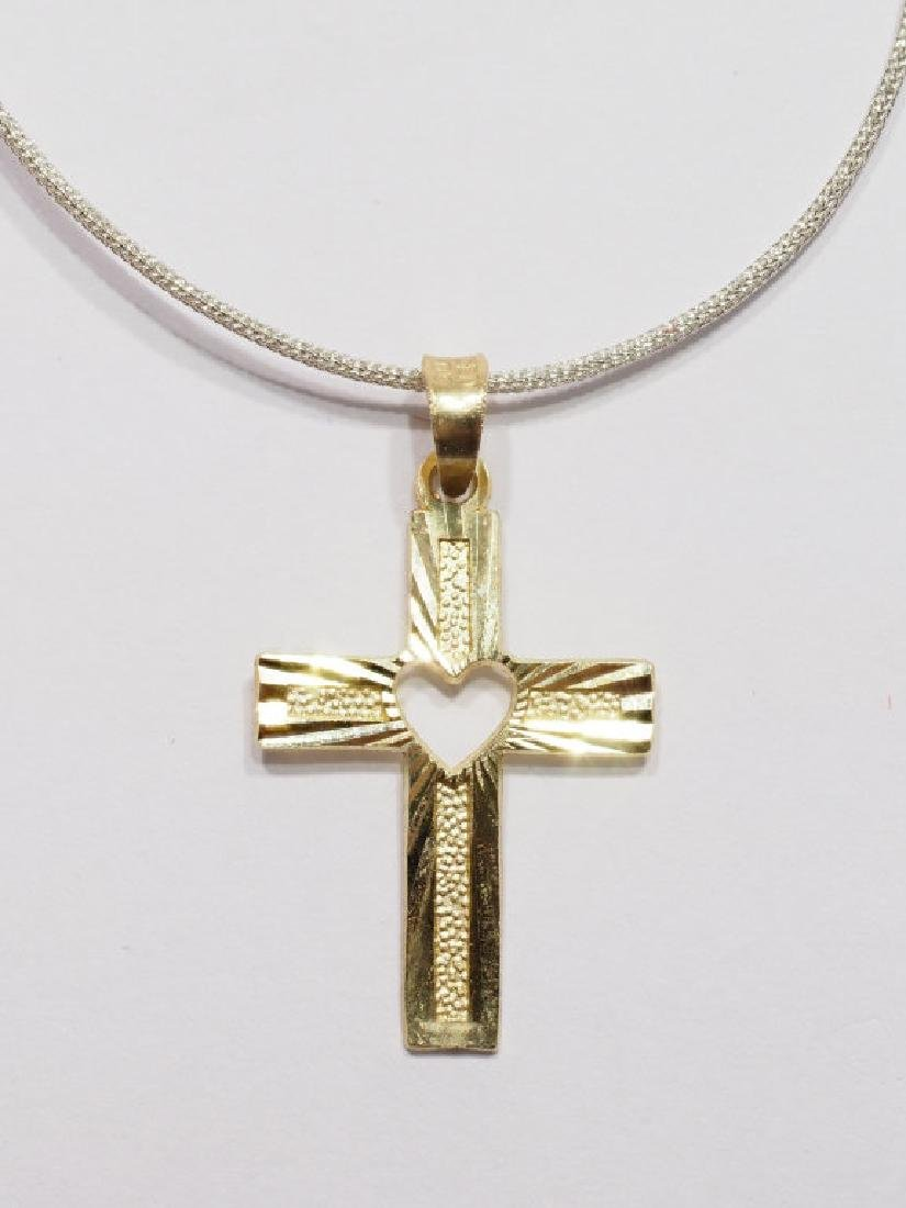 10Kt Gold Cross Pendant