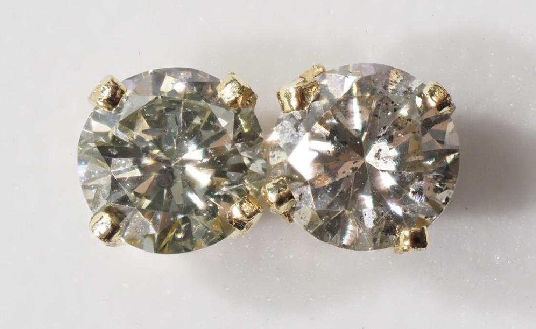 45-ls13 14kt Gold Diamond Earrings