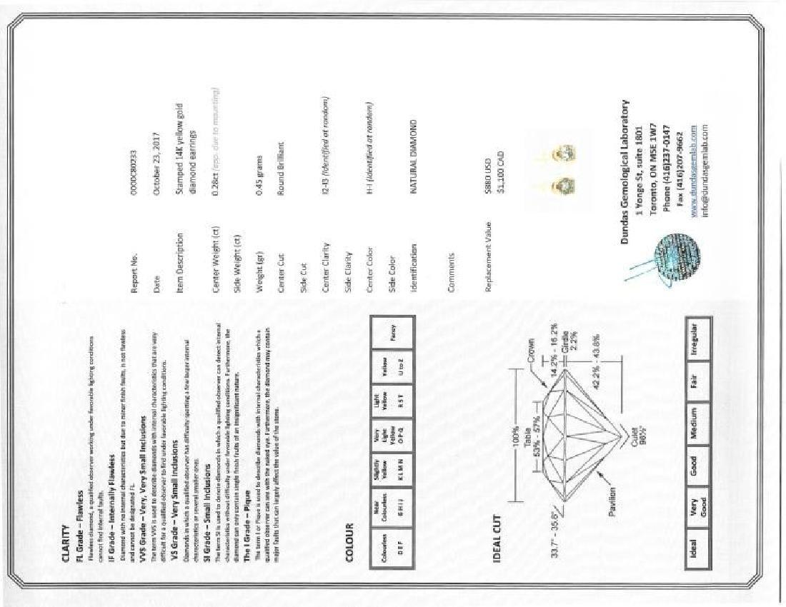 45-ls13 14kt Gold Diamond Earrings - 3