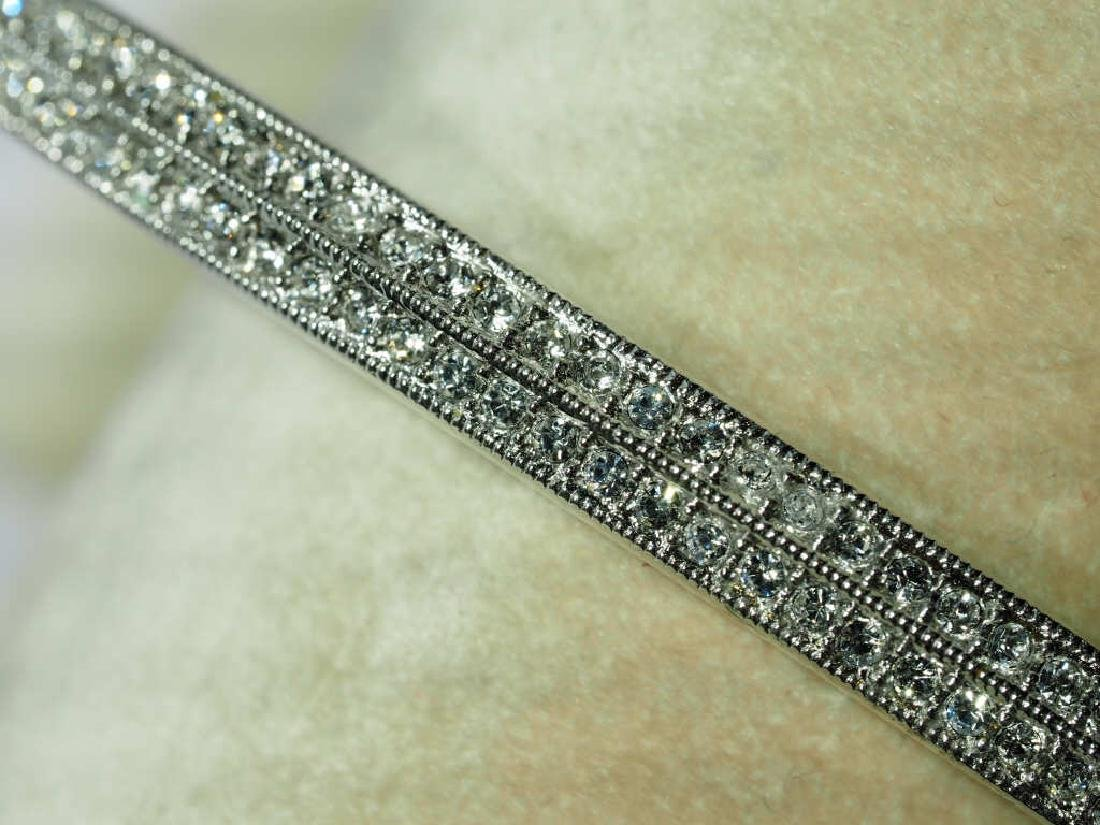 High Fashion Crystal Bangle in Two Rows
