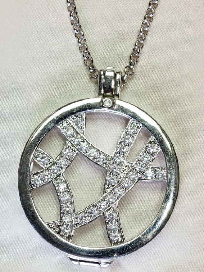 Sterling Silver 'Hot Diamond' Necklace & Diamonds