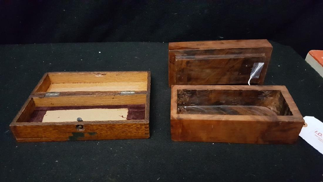 Antique Wooden Boxes - 3